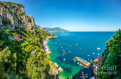 Landscape Photograph - Scenic View Of Amalfi Coast, Campania, Italy by JR Photography