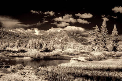 Surreal Infrared Sepia Nature Photograph - Scenic Yosemite by Mountain Dreams