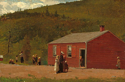 Winslow Homer Painting - School Time by Winslow Homer