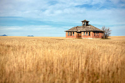 One Room Schoolhouse Photograph - School's Out by Todd Klassy