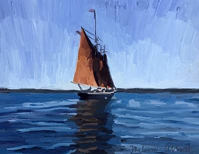 Painting - Schooner Roseway In Gloucester Harbor by Melissa Abbott