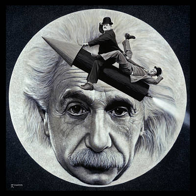 Man In The Moon Painting - Scientific Comedy by Ross Edwards