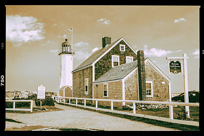 Scituate Lighthouse In Scituate, Ma Art Print by Peter Ciro