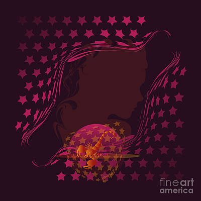 Christina Digital Art - Scorpio   Horoscope  M5 by Johannes Murat