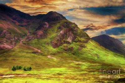 Scotland Painting - Scotland, My Home by Sarah Kirk