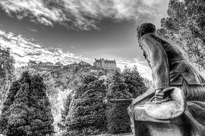 Photograph - Scots American Memorial And Edinburgh Castle by David Pyatt