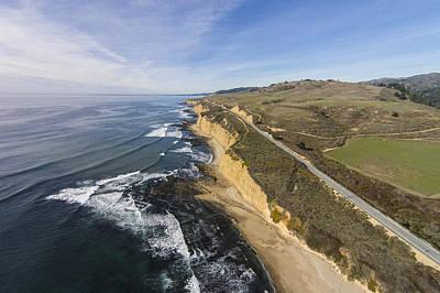 Davenport Beach Photograph - Scott Creek Coastal Bluffs by David Levy