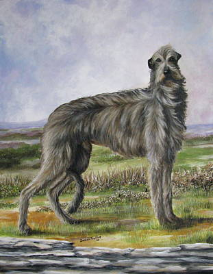 Scottish Dog Painting - Scottish Deerhound by Daniele Trottier