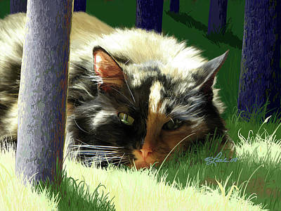 Digital Art - Scout In The Sun Closeup by Pam Little