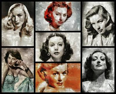 Screen Sirens - Hollywood Legendary Actresses Art Print