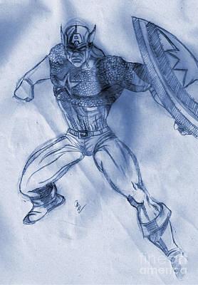 Raf Drawing - Scribbling by Suman Ghosh