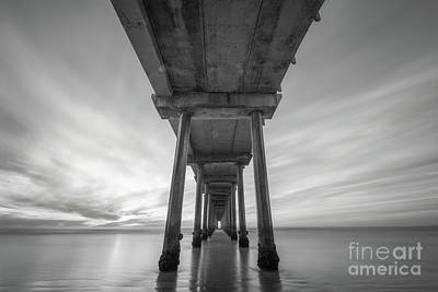 Photograph - Scripps Pier Bw  by Michael Ver Sprill