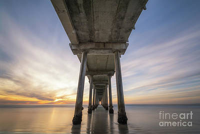 Photograph - Scripps Pier Sunset  by Michael Ver Sprill