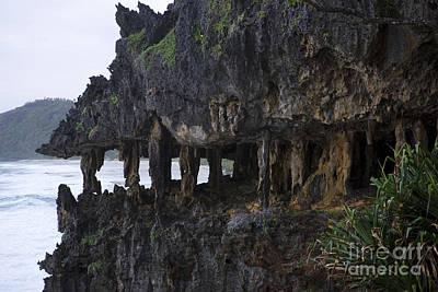 Rurutu Photograph - Sea Cliff And Caves, Polynesia by Jean-Louis Klein & Marie-Luce Hubert