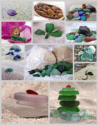 Photograph - Sea Glass Collection Collage  by Janice Drew