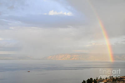 Sea Of Galilee Print by Shay Levy
