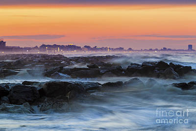 Photograph - Sea Storm At Sunset by Pier Giorgio Mariani