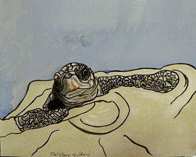 Baby Sea Turtle Painting - Sea Turtle Baby by W Gilroy