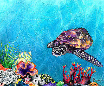 Sea Turtles Painting - Sea Turtle by Brazen Edwards