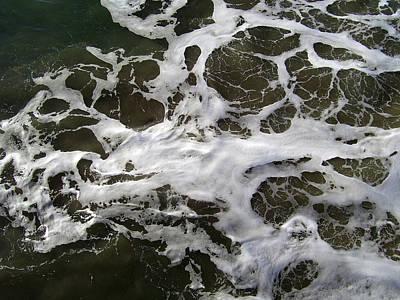Seafoam Photograph - Seafoam Lace by Robert  Hooper