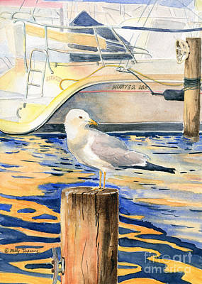 Ithaca Painting - Seagull by Melly Terpening