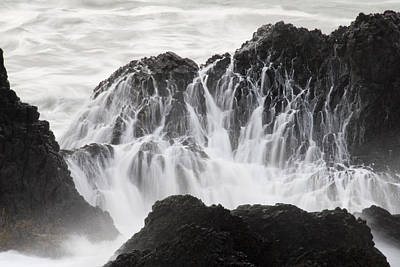 Plexiglas Photograph - Seal Rock Waves And Rocks 5 by Bob Neiman