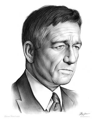 Foxes Drawing - Sean Pertwee by Greg Joens