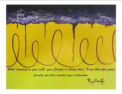 Rainbow Painting - Searching - Spiritual Art Poster With A Message by Pat Heydlauff