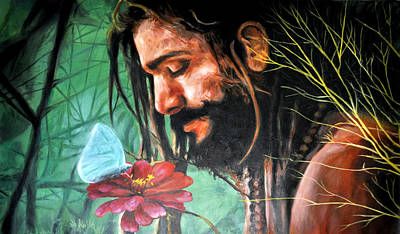 Sadhu Painting - Searching The Meaning Of Life by Bliss Of Art
