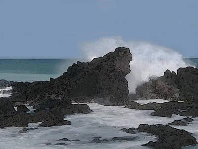 Digital Art - Seascape 2 by Michaelalonzo Kominsky