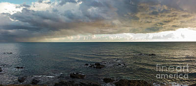 Photograph - Seascape With Clouds At Sunset, Andalusia, Spain by Perry Van Munster