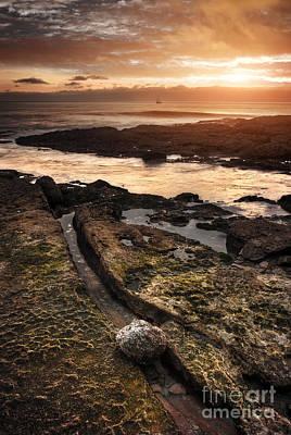 Seashore Sunset Print by Carlos Caetano
