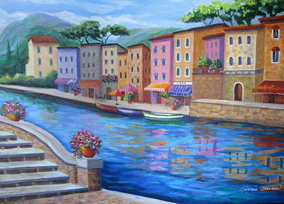 Seaside Village Original by Rosie Sherman