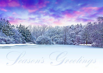 Photograph - Seasons Greetings Card by Ed Dooley
