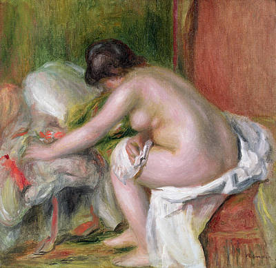 Nudity Painting - Seated Bather by Pierre Auguste Renoir