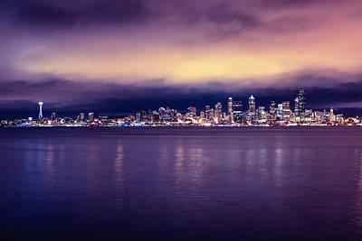 Seattle From Alki Art Print by Tanya Harrison