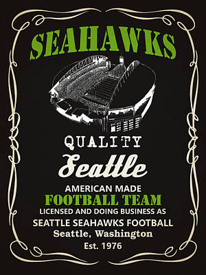 Seattle Mixed Media - Seattle Seahawks Whiskey by Joe Hamilton