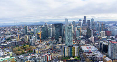 Photograph - Seattle Skyline II by Cathy Anderson