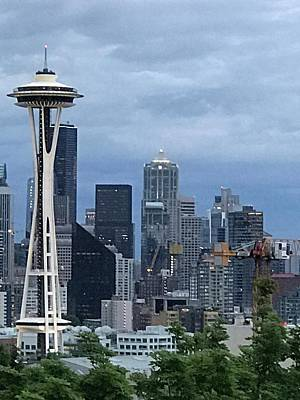 Photograph - Seattle Skyline by Russell Keating