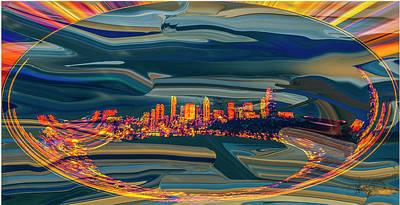 Digital Art - Seattle Swirl by Dale Stillman