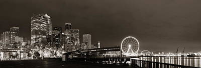 Photograph - Seattle Waterfront  by Songquan Deng