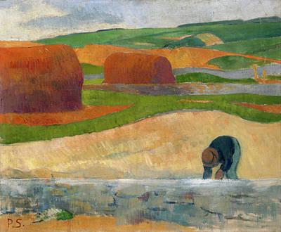 Corn Painting - Seaweed Gatherer by Paul Serusier