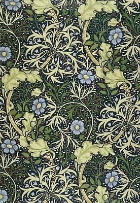 William Morris Painting - Seaweed Pattern by William Morris