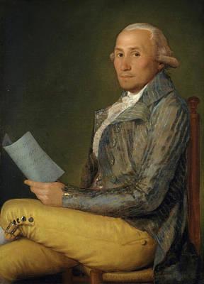 Sitting Painting - Sebastian Martinez Y Perez by Francisco Goya