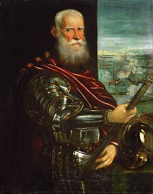 Indoor Painting - Sebastiano Venier by Tintoretto