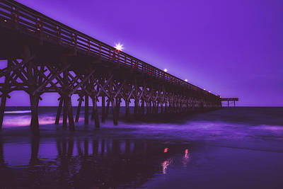 Photograph - Second Avenue Pier At Dusk by Library Of Congress