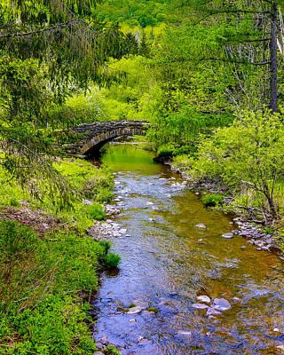 Photograph - Secret Garden Bridge by Paula Porterfield-Izzo