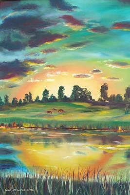 Coastal Painting - Secret Place by Gina De Gorna