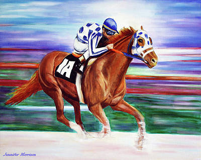 Secretariat Painting Blurred Speed Art Print