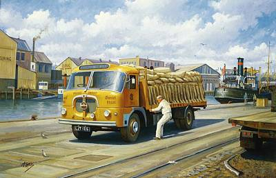 Affordable Painting - Seddon At Poole Docks. by Mike  Jeffries